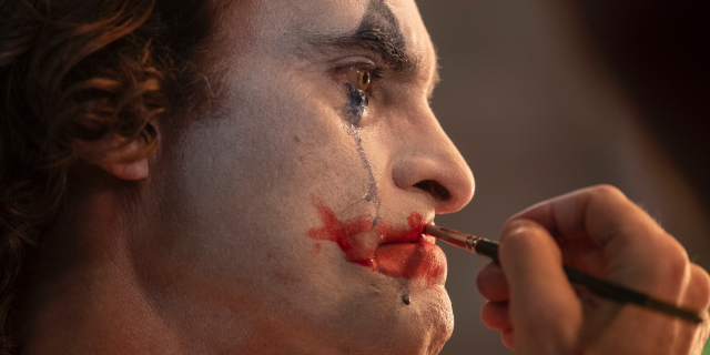 """This image released by Warner Bros. Pictures shows Joaquin Phoenix in a scene from """"Joker,"""" in theaters on Oct. 4."""
