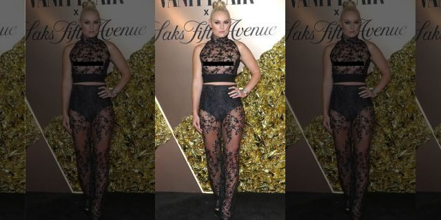 Lindsey Vonn attends the Vanity Fair