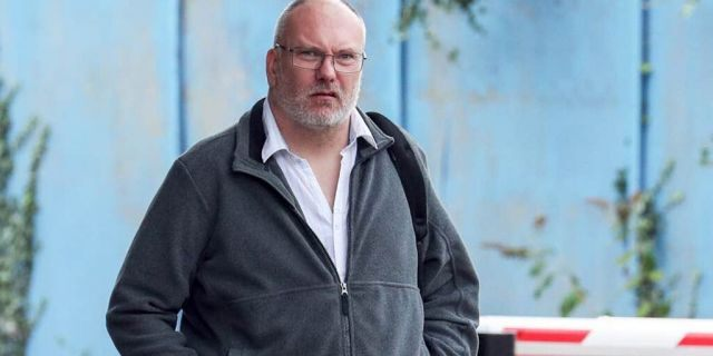 Peter Hartley, 50, arrives at Aylesbury Crown Court, Friday, September 6, 2019 where he was jailed for 16 months after planting a spy camera in the ladies
