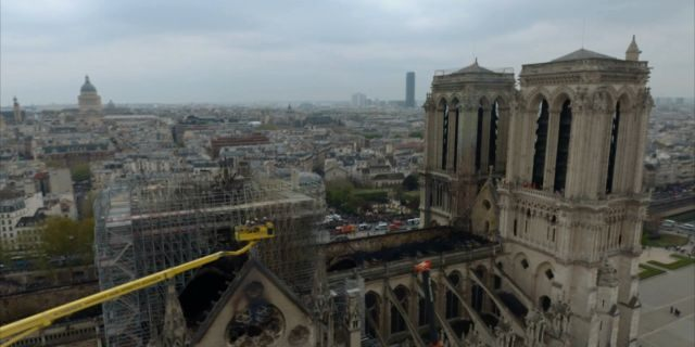 The medieval cathedral was devastated by fire in April 2019. (Science Channel)