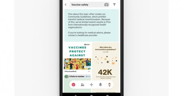 Pinterest Teamed Up With Public Health Organizations on Vaccine-Related Search Results – Adweek