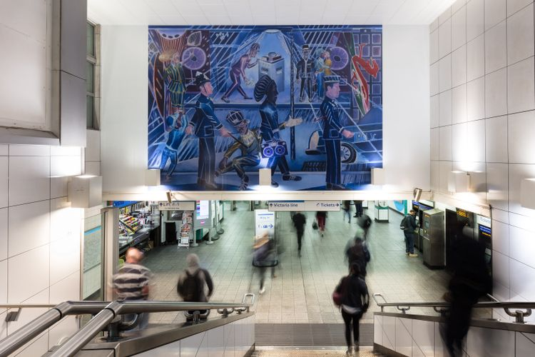 Rozzers and Rastas: Denzil Forrester unveils Brixton underground station commission