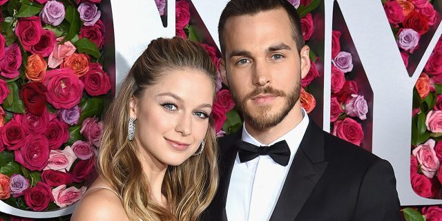 """""""Super Girl"""" star Melissa Benoist and Chris Wood attend the 72nd Annual Tony Awards at Radio City Music Hall on June 10, 2018 in New York City. The pair married in early September 2019."""
