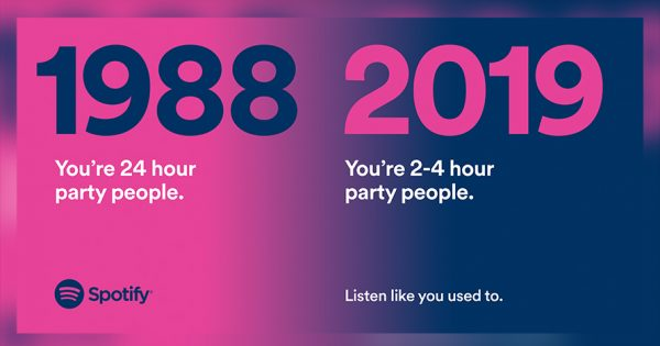 These Painfully Accurate Spotify Ads Want You to Get Back to Raging, Not Just Aging – Adweek