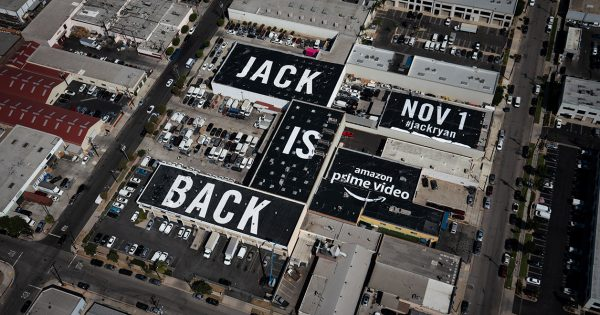Unmissable From the Air, This Jack Ryan Promo Is the Largest Rooftop Ad Ever – Adweek