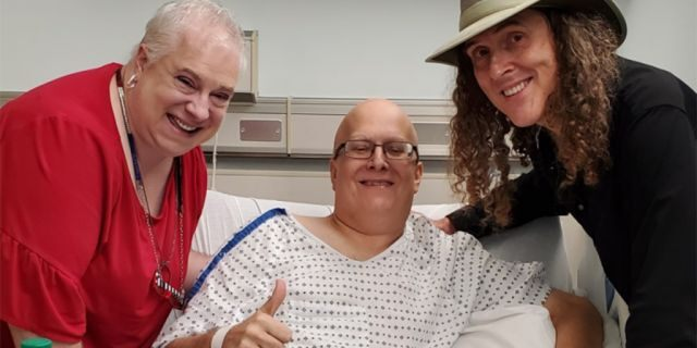Weird Al Yankovic surprised Lonnie Craig, who has been hospitalized because of a low white blood count. (Julie Craig)