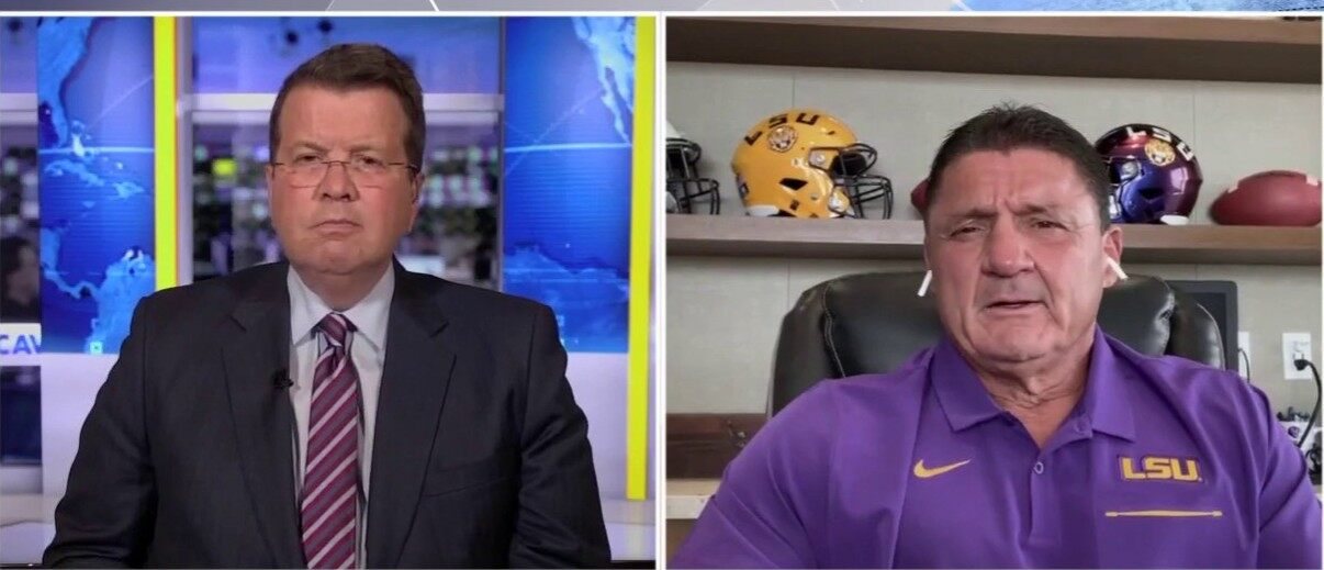 LSU coach Orgeron thinks 'we're going to have football': 'The country needs it ... Louisiana needs it'