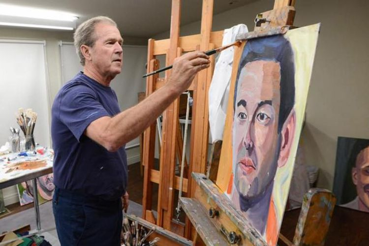 Former US president George W. Bush unveils portraits of immigrants in new book