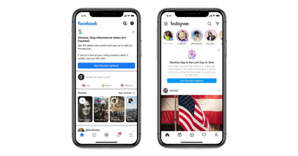 Facebook Changes Its Messaging as the Polls Begin to Close