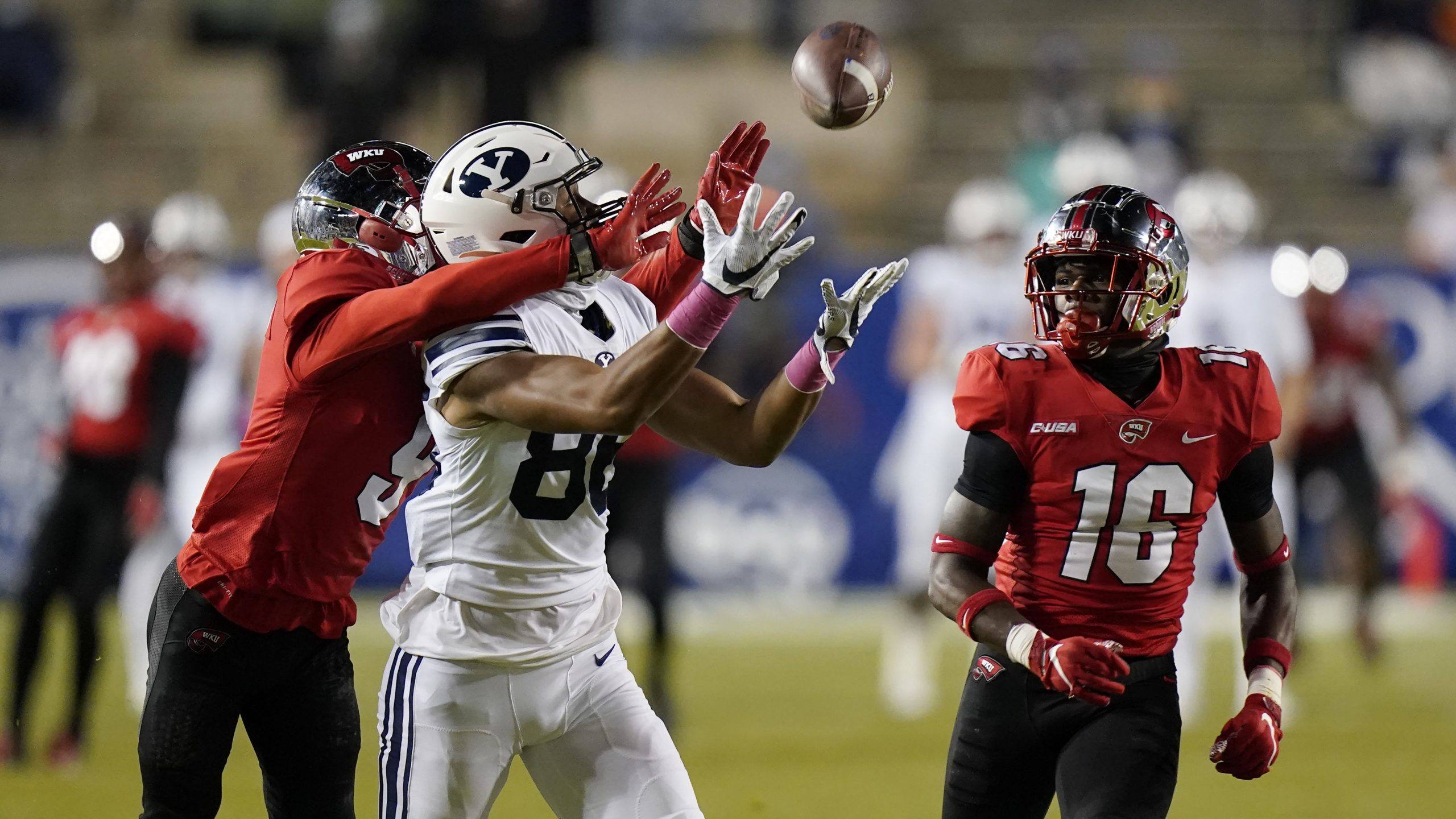 No. 11 BYU routs Western Kentucky 41-10 for 7-0 start
