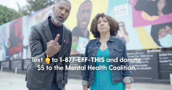 Mental Health Campaign Gives 2020 a Big Middle Finger