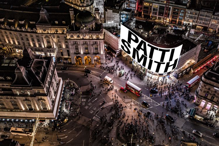 Ring in the New Year with Patti Smith performance on Piccadilly Lights screen