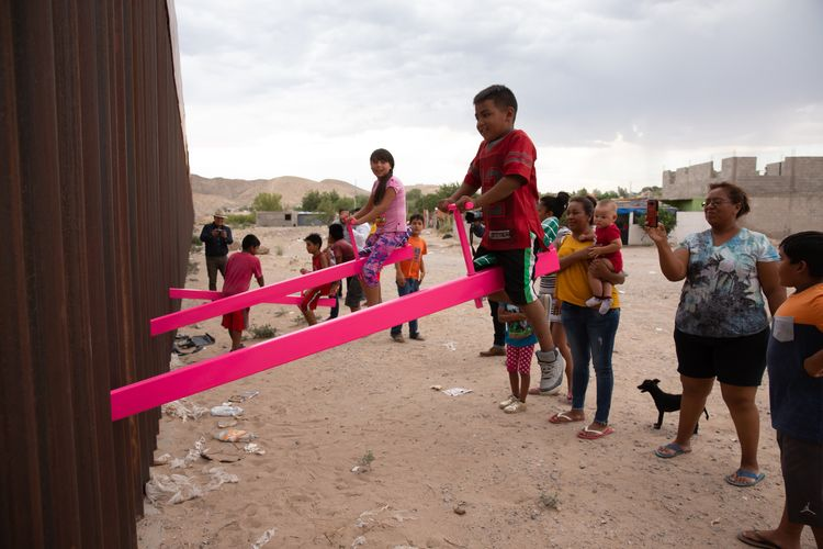 Seesaw installation at US-Mexico border wins Design of the Year award