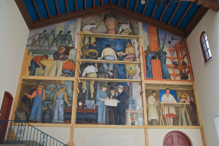 The fate of the San Francisco Art Institute's historic Diego Rivera mural hangs in limbo