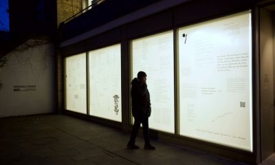 Street viewing exhibitions provide creative comfort for art-starved Londoners