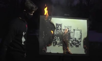 'Art enthusiasts' burn a Banksy print then sell it as an NFT