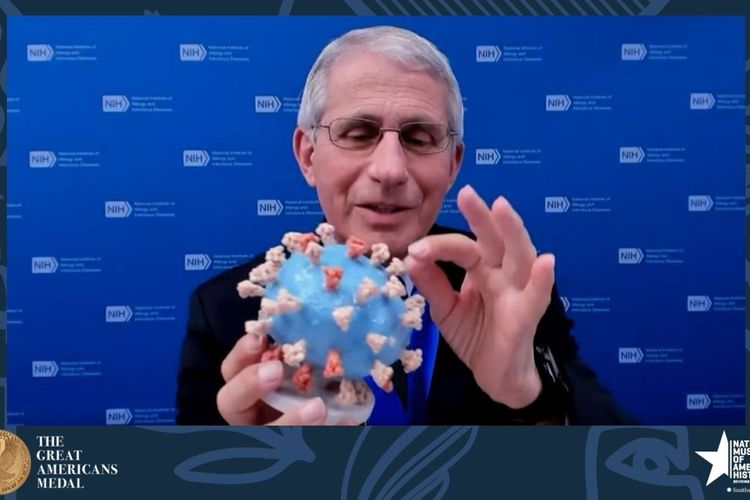 Dr Fauci's 3-D printed coronavirus model given to Smithsonian