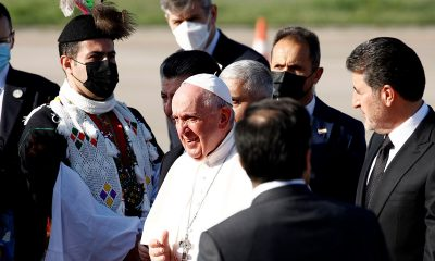Pope visits Iraq's war-ravaged north on last day of tour