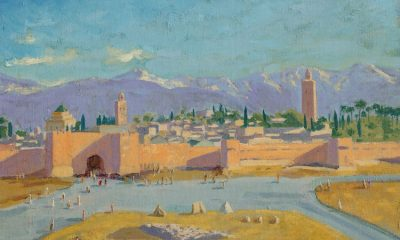 Winston Churchill's painting of Marrakech—given to President Roosevelt and being sold by Angelina Jolie—sells for record £8.2m