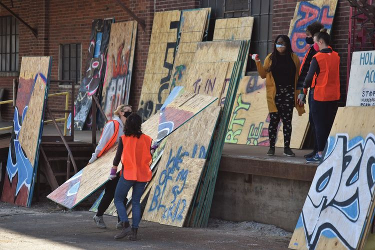 In Minneapolis, plywood boards become protest art worth preserving