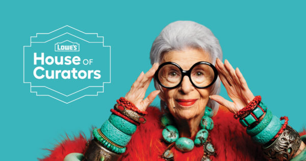 Centenarians Lowe's and Iris Apfel Are Teaming Up