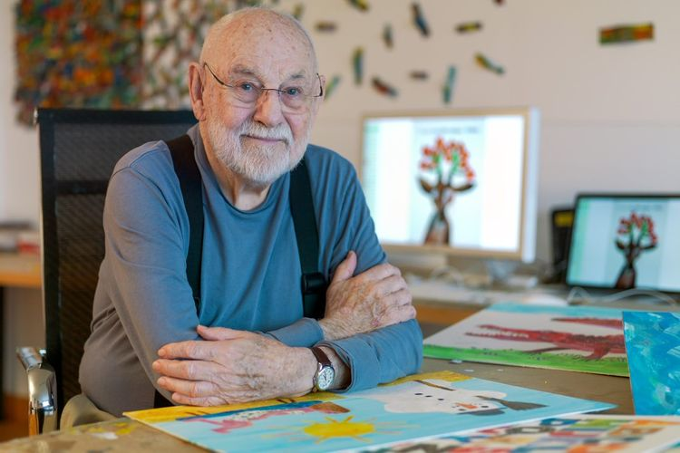 Eric Carle, author and illustrator of The Very Hungry Caterpillar, has died, aged 91