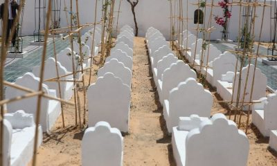 As 'mountains of corpses' wash up on Tunisian shores, artist Rachid Koraichi builds burial site for migrants