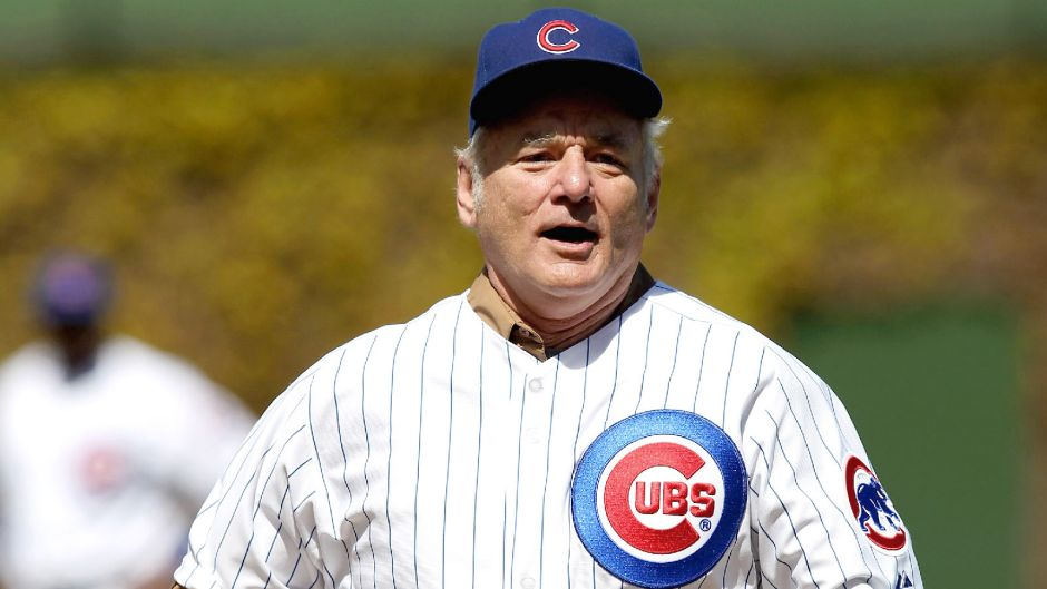 Bill Murray celebrates Cubs' first full-capacity game, leads Wrigley Field in 'Take Me out to the Ball Game'