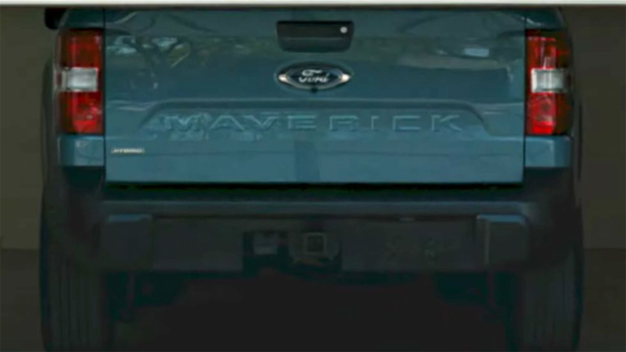 Teaser ad reveals Ford Maverick compact pickup is a hybrid