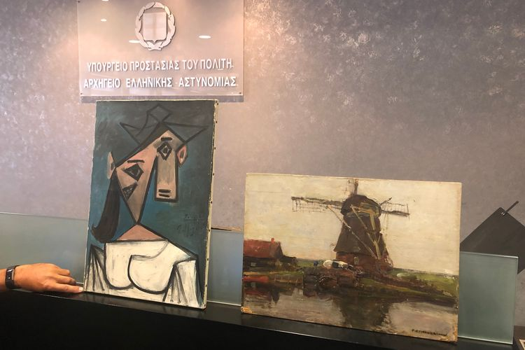 'The biggest mistake of my life': 49-year-old 'art freak' confesses to stealing a Picasso and Mondrian from National Gallery in Athens
