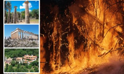Acropolis forced to close amid unprecedented heatwave and wildfires in Greece