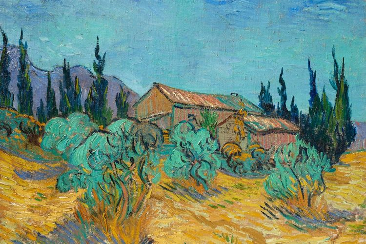 Exuberant Van Gogh landscape—featuring his beloved olive and cypress trees—could well make $40m at Christie's New York