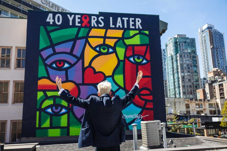Joe Average unveils new mural honouring the fight against Aids in Vancouver