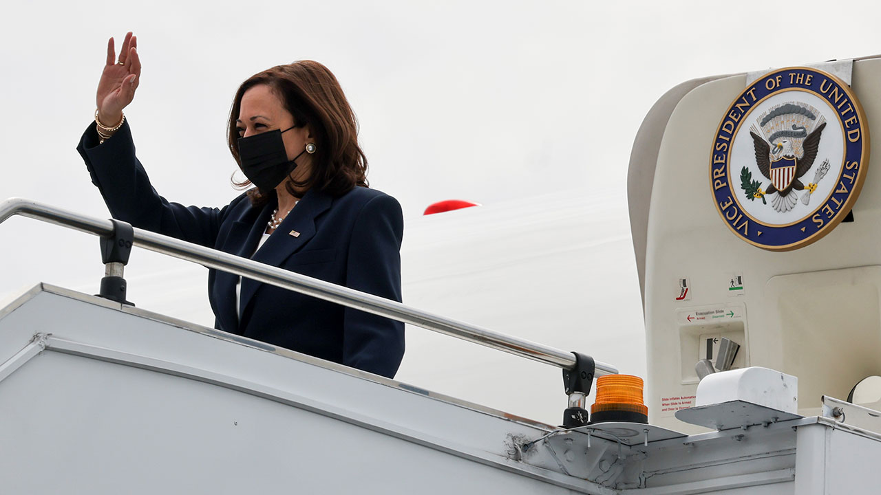Kamala Harris lands in Singapore for Asia visit that will include Vietnam stop