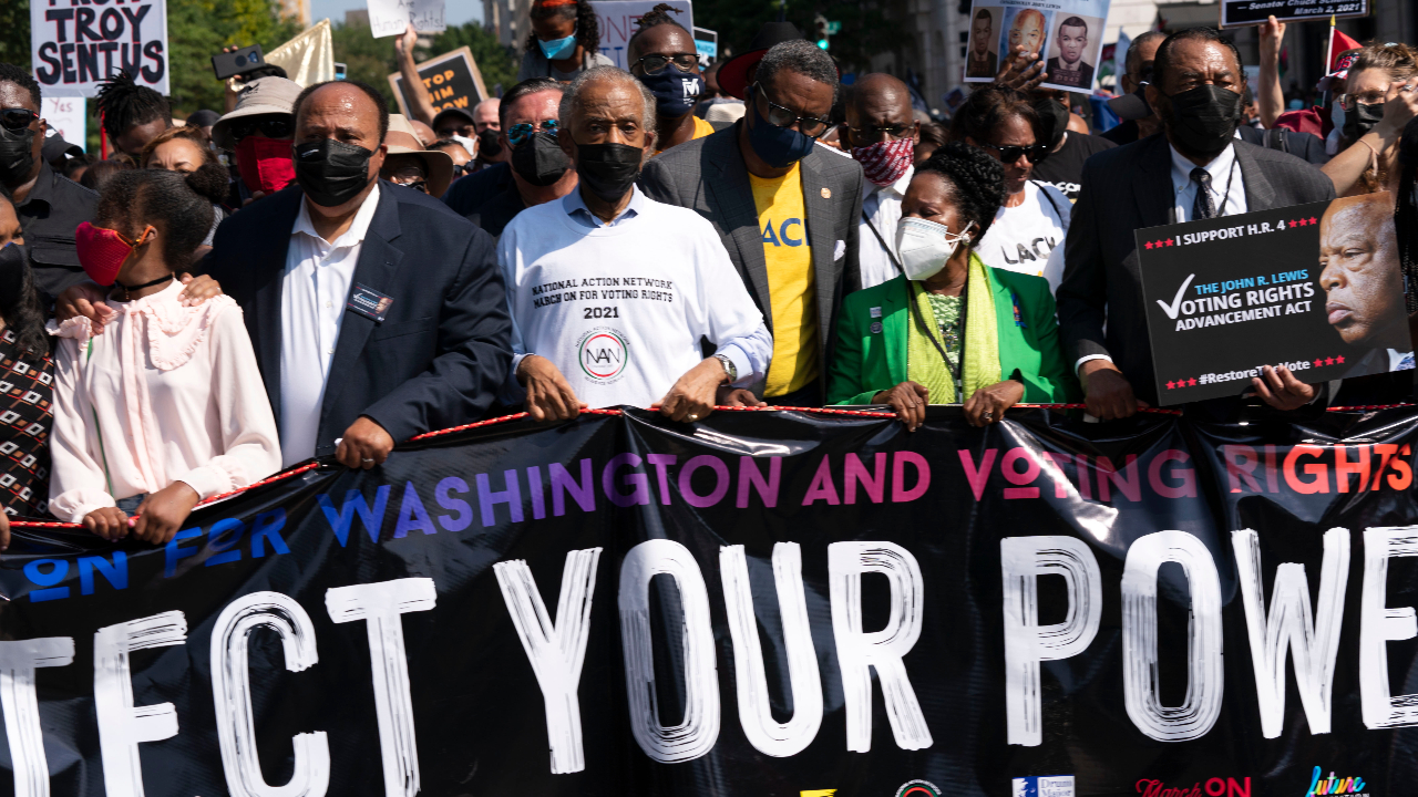 People gather for voting rights march from across the country in DC