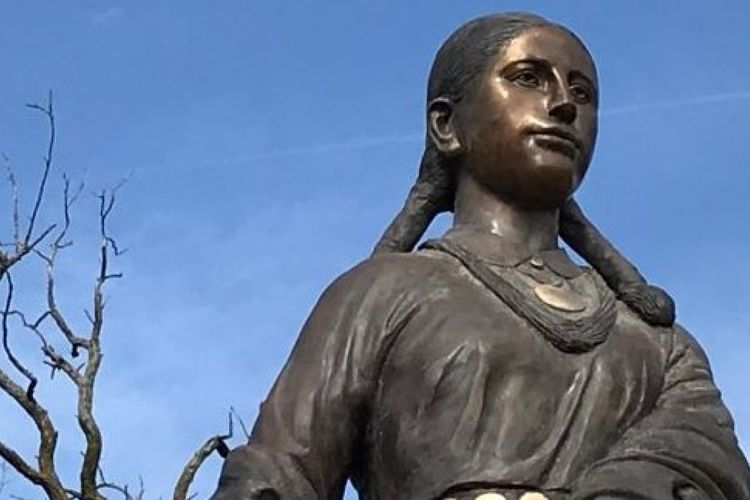 Police appeal for information after Kansas City's 7ft-tall bronze statue of Native American woman disappears into thin air