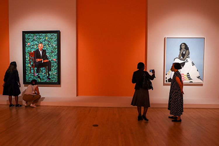 The Obama portraits arrive at the Brooklyn Museum