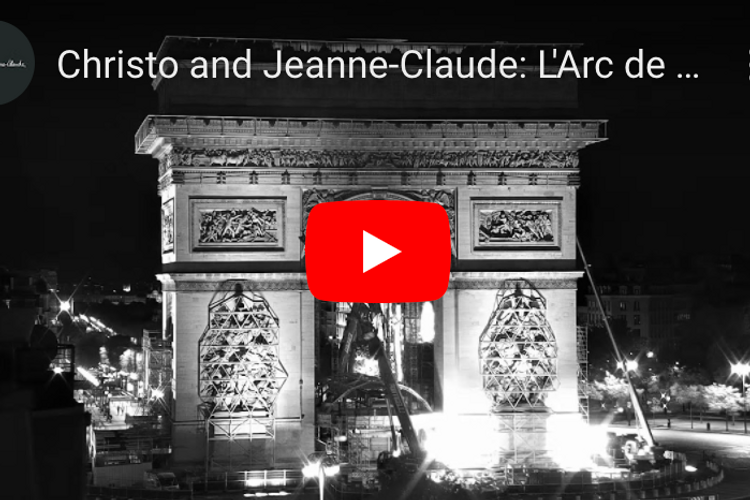 Watch Christo's last work in action: the wrapping of the Arc de Triomphe is being filmed live