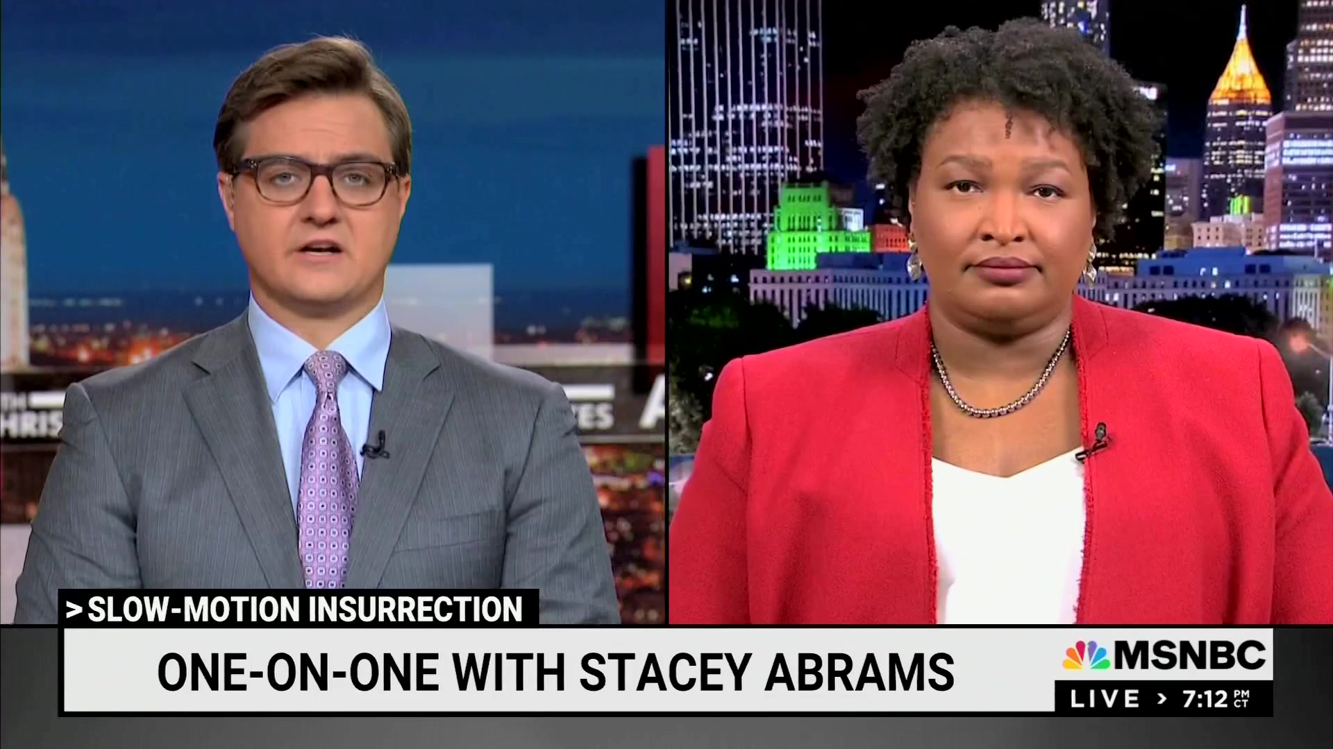 MSNBC's Chris Hayes invites Stacey Abrams to discuss GOP efforts to 'undermine our democracy'